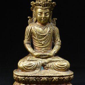 清代铜鎏金雕像