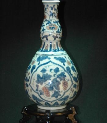 明-宣德-青花釉里红葫芦瓶