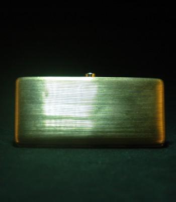 欧洲 维多利亚风格 18K金蓝宝石烟盒