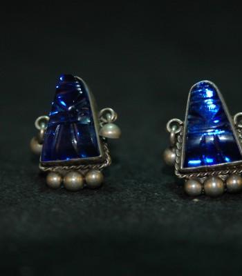 蓝宝石 耳坠