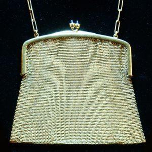 18K金 蓝宝石金丝网链贵妇手包
