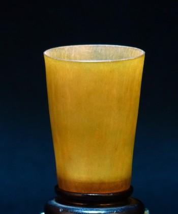 犀角 薄胎酒杯
