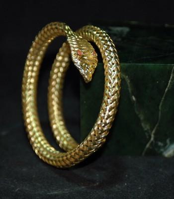K金蛇形手环