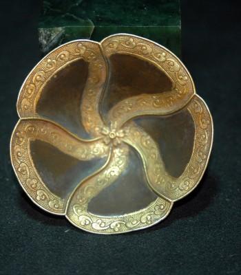 南宋葵形鎏金银盏