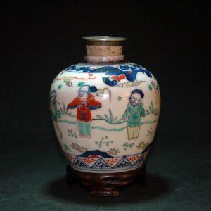 大明成化斗彩人物纹姜罐
