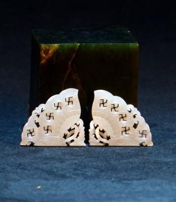镂空雕-卍字蝴蝶翼和田白玉佩