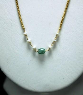 翡翠珍珠金项链