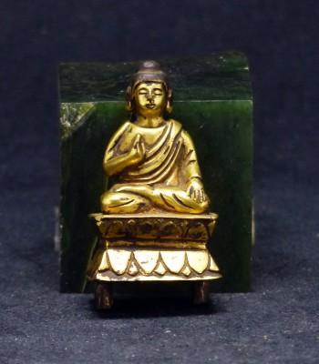 铜鎏金释迦牟尼佛祖摆件