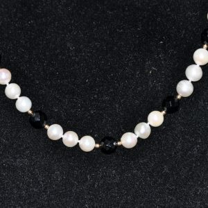 黑曜石珍珠项链