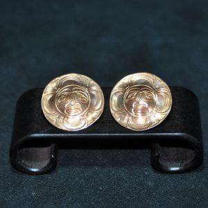 錾 玛雅人物 铜耳钉